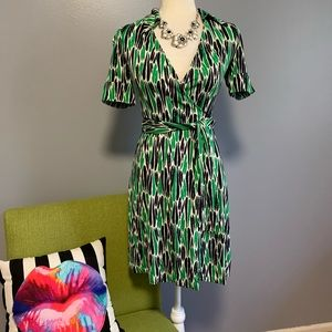 Diane Von Furstenberg DVF Jillia Silk Wrap Dress
